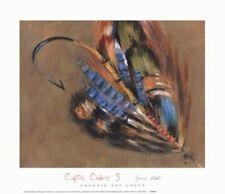 FLY FISHING ART PRINT Captive Colors III - James Elliot 12x14 Fish Hook Poster 3