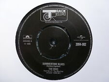"""THE WHO 45 RPM 7"""" - Summertime Blues / Heaven And Hell"""