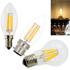 Retro LED regulable filamento Vela Pequeña Globo bombilla E14 E27 B22 2w