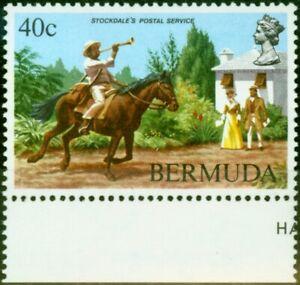 Bermuda 1984 40c Postal Service SG471w Wmk Sideways Inverted V.F MNH