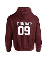 Maroon Liam Dunbar Inspired Wolf Adult Hoodie Sweatshirt