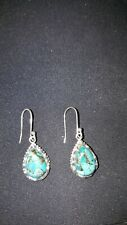 Shivam India .925 Sterling Silver Turquoise Earrings  -  NEW