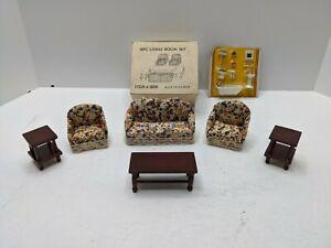 1:12 Scale Miniature Furniture Dollhouse Hand Made 6 Piece LivingRoom Set + More