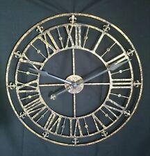GRANDE Antico Rustico Oro Metallo Orologio Scheletro 76 cm di diametro