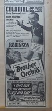 1940 newspaper ad for movie Brother Orchid - Edward G. Robinson, Bogart, Sothern