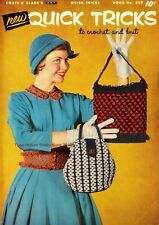 1955 Coats & Clarks Book # 307 Quick Tricks to Crochet & Knit on CD