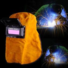Solar Auto Leather Face Welding Helmet Mask Darkening Filter Lens Welder Hood