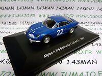 ALP3 Voiture 1/43 eligor RENAULT Alpine : A110 Rallye de l'AGACI 1963
