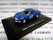 Voiture 1/43 - Alpine A110 Rallye de L'agaci 1963