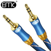 EMK 10inch 3.5mm Extended Cable Speaker 3.5mm AUX Stereo Audio Cable MP3 Phone