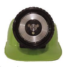 Childrens Lighted Construction Miner Hard Hat Helmet LED Light Bright LIME GREEN