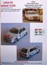 V076 VISA 1000 PISTES RALLYE MONTE CARLO 1985 PHILIPPE WAMBERGUE N°14 DECALS