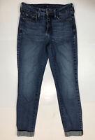 NYDJ Not Skinny Boyfriend Medium Wash Roll Up Denim Jeans M66O10OI3518 Sz 2 QQ1