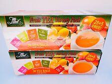 Tea land garden fresh fruit green tea variety pack (30 X2 tea bags)  60 cups