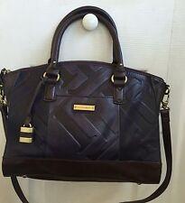 NWT Tignanello Glazed Vintage Embossed Leather Zip Top Satchel