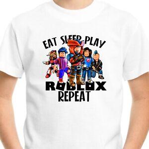ROBLOX Kids T-Shirt Top Gift Birthday Boys Girls Men Gamer Gaming Funny Eat V2