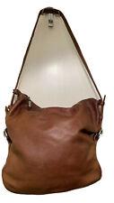 New ListingStone Mountain Dark Camel Leather Bucket Purse Handbag Shoulder Bag
