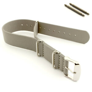 Military Army MoD Watch Band Strap Genuine Leather 18 20 22 24 G10 MM