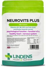Neurovits Plus (360 Tablets) Vitamin B1, B6, B12, Folic Acid  [Lindens 5040]