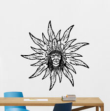 Native American Wall Decal Indian Chief Bedroom Decor Vinyl Sticker Mural 324xxx
