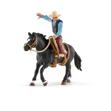 Bü)  Schleich (41416)  Rodeo Reiter mit Pferd Pferd Pferde Schleichpferde