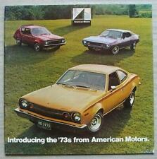 AMERICAN MOTORS AMC USA Sales Brochure 1973 #2232083501 Gremlin HORNET Matador
