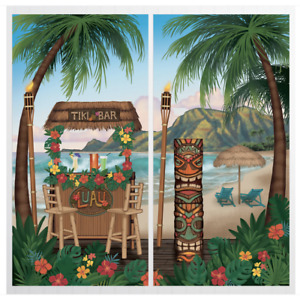 Tiki Bar Scene Setter Wall Decoration Poster Luau Beach Party Supplies Summer