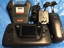 Sega Game Gear Black Handheld Console System 100% Working! + Game Genie