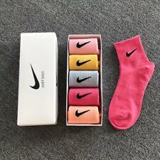 5 Pairs Ladies Womens Coloured Design Socks Cotton Blend Designer Adults Socks
