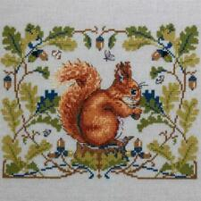 Squirrel Merejka Counted Cross Stitch Kit Lucan Evenweave