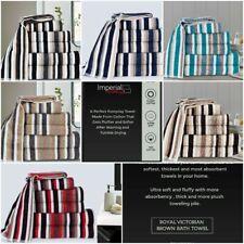 Victorian Stripe Towel 100% Pure 550-gsm stripe cotton Towel Limited Edition UK