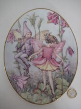 ROYAL WORCESTER OVAL FLOWER FAIRY PLATE CICELY MARY BARKER COLUMBINE