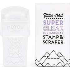 MoYou London Super Clear - Rectangular Stamper & Scraper