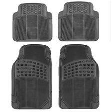 4 Pcs/Set Durable Universal Black Rubber Car Mat Set Non Slip Grip Van Mats