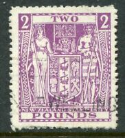NEW ZEALAND....  1931-56 Arms   £2 violet   used