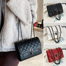 Women Quilted Rhombic Small Bag PU Leather Crossbody Shoulder Bag Purse Handbags
