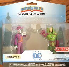 Dc Heroworld Series 1 The Joker & Lux Luthor Vinyl Figurines