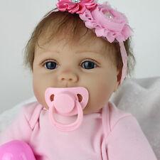 Reborn Baby Doll Lifelike Soft Vinyl 22inch Alive Newborn Bebe Nursery Kids Gift