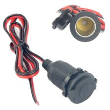 12V Waterproof Car Motorcycle Cigarette Lighter Power Socket Plug Outlet + Wire~