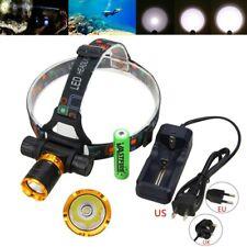 Sott 'acqua 100m 5000Lm XM-L2 LED luce subacquea per Fari Proiettore Lampada Testa Scuba