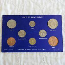 QEII 1966 8 COIN YEAR SET - card surround