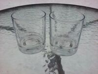 Set Of 2 Ketel One Vodka Rocks Glass Embossed Logo Bottom Graphics Barware Italy