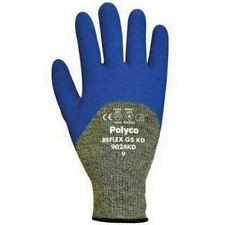 Polyco Reflex G5 KD Mens Work Gloves Cut Resistant 3/4 Latex Coated Cut 5