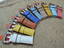 Short Version Cowhide Leather Watch Strap Band 9 Color 22/20mm 24/22mm 26/22mm