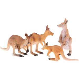 Wildlife Animal Figure Toy Kangaroo Model Plastic Animal Kids Learning Toy
