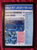 Sheffield Wednesday 6 Leeds United 0 - 2014 - framed print