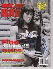 CHYNA WWF RAW SIGNED AUTOGRAPHED MAGAZINE October 1998 wrestler WWE Signature