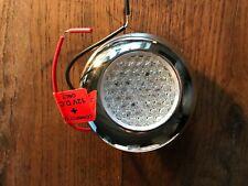 Plafonnier étanche chromé à LED rouge Ø 85 MM 12V