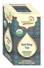Adanim Organic Flavored Earl Grey 6 Packs,20 Count, 120 tea bags in total