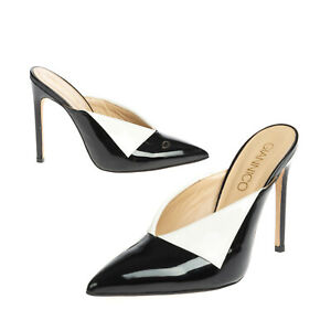 RRP €570 GIANNICO FONTANA Leather Mule Shoes EU 38.5 UK 5.5 US 8.5 Folded Vamp
